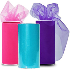 Solid Colors Tulle Rolls Spool - Three Spools of Tulle Fabric on 3 Beautiful and
