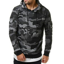 CA Men Stylish Camouflage Military Sweatshirts Hooded Hoodie Casual Fleeces DS