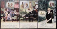 WW1 I HEAR YOU CALLING ME Bamforth Song Cards set of 3 No 4890/1/2/3
