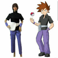 NEW Pokemon Pocket Monsters Gary Oak Shigeru Cosplay Costume