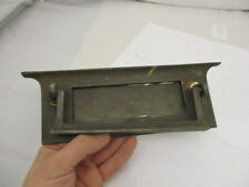 Vintage Brass Letterbox Post Slot Letterbox with Knocker Architectural Antique