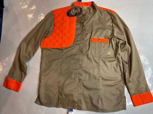 SHE Safari Khaki Hunting Camping Outdoor Blaze Ladies Upland Shirt XL Long NWT