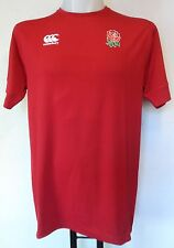 ENGLAND RUGBY CRIMSON NO 02  DRY TRAINING TEE SHIRT BY CANTERBURY SIZE ADULT XL