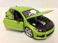 Volkswagen Scirocco R, Italian Design 1:24 Diecast Metal By Burago Toys, Green