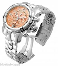 Invicta Venom Chronograph Rose Dial Stainless Steel Mens Watch 17631