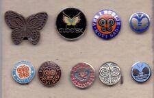 pin pins badge anstecknadel BUTTERFLY BUTTERFLIES