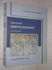 ISTITUZIONI DI DIRITTO ROMANO Danilo Dalla Renzo Lambertini Giappichelli 2001 di