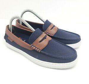 Cole Haan Nantucket II Mens Size 7.5 Blazer Blue Slip On Penny Loafer Shoes C280