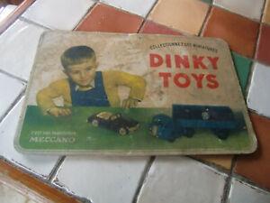 TRES RARE CARTON PRESENTOIR DE MAGASIN 1950 DINKY TOYS MECCANO
