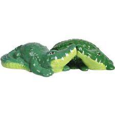 MWAH! Kissing Alligators Magnetic Salt & Pepper Set Crocodile Reptile everglades