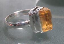 925 silver rough two tone ametrine ring UK O½-¾/US 7.5-7.75 Gift bag.