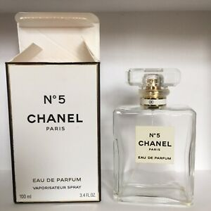 empty chanel no 5 perfume bottle With Box
