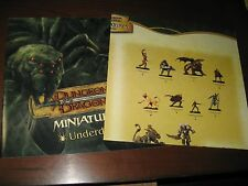 D&D Miniatures poster lot Underdark/War Drums checklists NEW