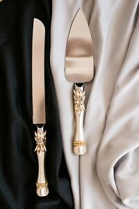 Wedding cake server set 2pcs