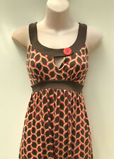 COOPER ST Stretchy Vintage/ Retro Styled Geometric Dress Button Feature s 12(10)
