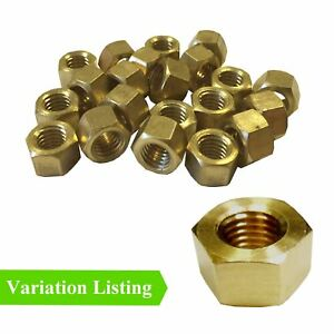 """Brass UNF / UNC Imperial Inlet Exhaust Manifold Nuts 1/4"""" 5/16"""" 3/8"""" & 7/16"""""""