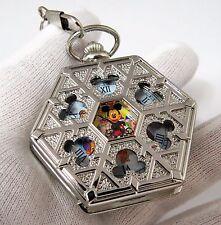 "MICKEY MOUSE,Manual Wind ""Disneyland"" Character,Hexagon POCKET WATCH,M-69,L@@K"