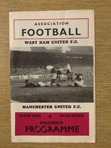 West Ham United v Manchester Utd 1967/68 Division 1 Pirate Programme Man Utd