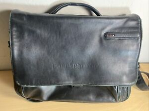 Tumi Black 100% Leather Crossbody Messenger Bag Unisex 15x13x4