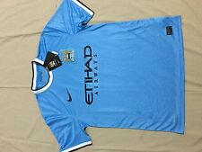 Manchester City Champions nice Nike home Blue Jersey M Brand New with Tags