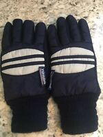 VTG WINTER / SKI GLOVES Blue & White SIZE YOUTH M