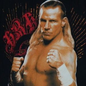 2007 SHAWN MICHAELS shirt WWE wwf wrestling XL HBK ecw wcw black fifth sun