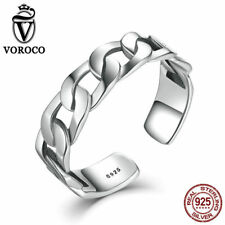 Ring For Women Girl Jewelry Gift Voroco Fashion 925 Sterling Silver Open Finger