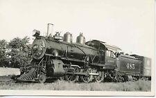 6J006 RPPC 1936 AT&SF SANTA FE RAILROAD LOCO #485 MERCED CA