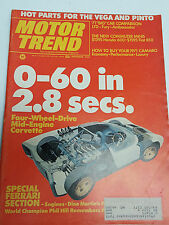 November 1970 Motor Trend magazine collectable issue featuring 4wd Corvette