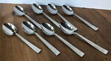 """New listing Set of 8 Sola Cora Holland Stainless Flatware Place Oval Soup Spoon 7"""" Mcm"""