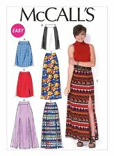 McCall's Sewing Pattern M7096 Plus SZ14-22 Misses' Easy Side-Slit Skirts Maxi