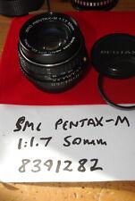 SMC Pentax-M 50mm F1.7 Manual Focus K Mount Prime Lens - Working well