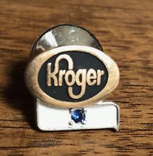 Vintage Kroger Grocery Store EMPLOYEE SERVICE Pin Badge: GF w/ Blue Sapphire