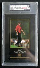 1997 GSV Grand Slam Ventures Gold Tiger Woods Rookie RC Graded 9 Mint Golf Card
