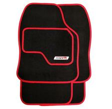 Set Of 4 Luxury Red On Black Replacement Car Mats - All Carpet Protector