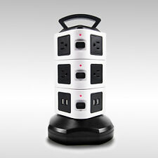 Vertical Power Strip Surge Protector with 10 Outlets and 4 USB Charging Ports