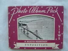 1939-40 Golden Gate-San Francisco Exposition Postcard Album California 15 CARDS!