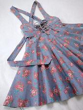 LIZ LISA Lace-up&Ribbon Jumper/Suspenders skirt Rose floral Japan-M Hime Gyaru