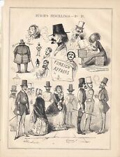 1841 Punch Cartoon Foreign Affairs