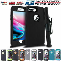 For iPhone 7 8 Plus Shockproof Rugged Case Cover with Belt Clip+Screen Protector