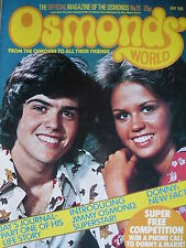 OSMONDS WORLD MAGAZINE ISSUE 31 MAY 1976 - (INC OSMONDS POSTER!)