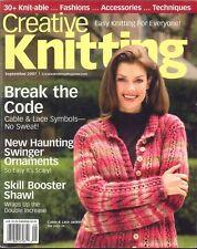 Creative Knitting Magazine Sep 2007 Halloween Ornaments Felted Runner Turtleneck