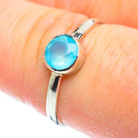 Aqua Chalcedony 925 Sterling Silver Ring Size 8.5 Ana Co Jewelry R51951F