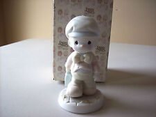 PRECIOUS MOMENT FIGURINE -  LORD HELP ME MAKE THE GRADE - 106216 - SUSPENDED
