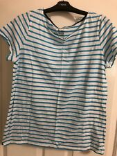 Boden Great Breton Blue White Striped Short Sleeved Top 14