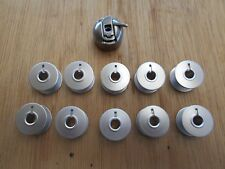 1X BOBBIN CASE 10X ALUMINIUM BOBBINS TO SUIT INDUSTRIAL SINGER MODEL 31K 331K