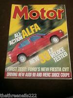 MOTOR MAGAZINE - ALFA 33 1.7 VELOCE TESTED - MAY 23 1987