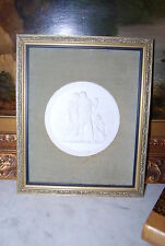 SUPERB ROYAL COPENHAGEN NEOCLASSICAL MOUNTED WHITE BISQUE OR PARIAN PLAQUE #6