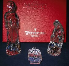 WATERFORD CRYSTAL Nativity Holy Family Joseph Mary Jesus ~ EXCELLENT in Red Box