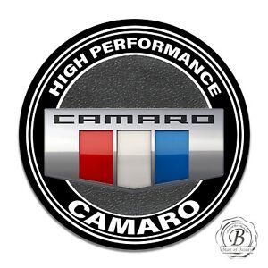 2016 Chevy Camaro Red White Blue Emblem Design 11.75 Inch Circle Aluminum Sign
